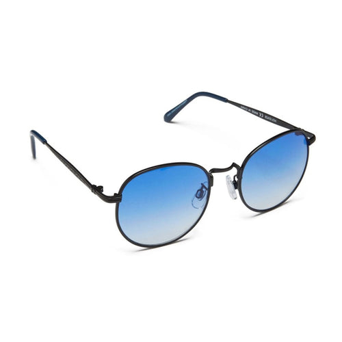 Happy Hour - Holidaze Black/Blue Lens Sunglasses