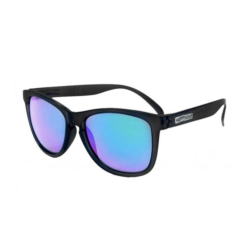 Happy Hour - Black Mamba Matte Black Blue Mirror Lens Sunglasses