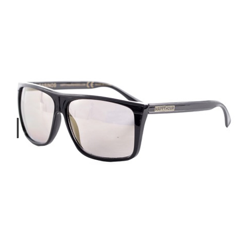 Happy Hour - Braydon Black/Gold Mirror Sunglasses