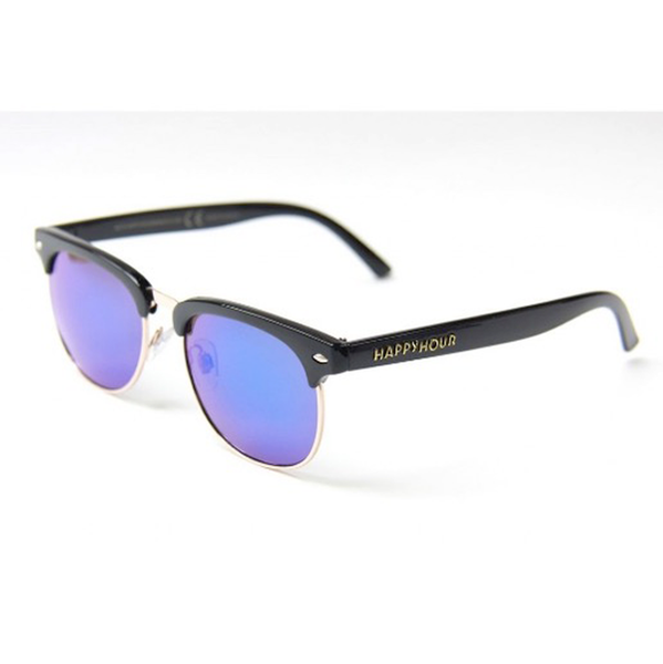 Happy Hour - Sunglasses Herman G2's Black & Silver Mirror
