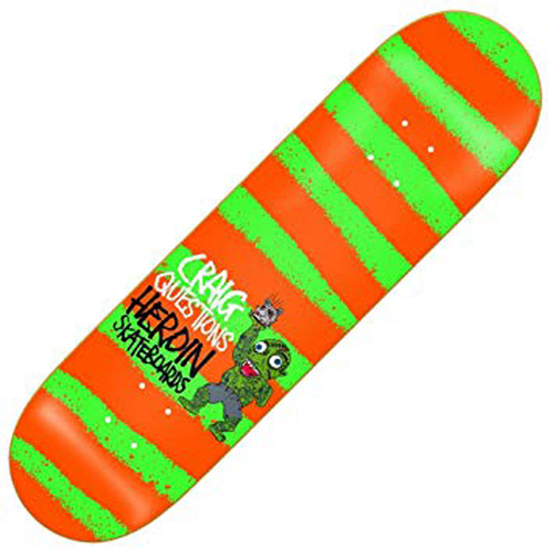 Heroin Skateboards - Craig Questions - Striped Icon 8.44""