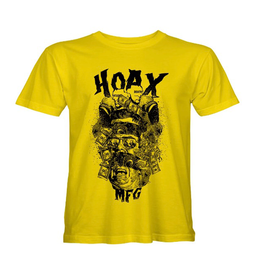 "Hoax MFG - ""Corporate Corruption"" Yellow T-Shirt"