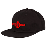 Independent Trucks - Baker 4 Life Strapback Unstructured Low Hat Black