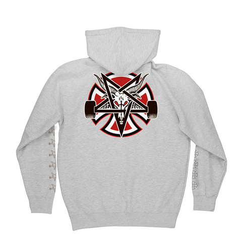 Independent Trucks - Thrasher Pentagram Cross Hood Heather Grey