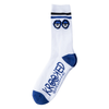 Krooked - Big Eyes White/Blue/Black Socks