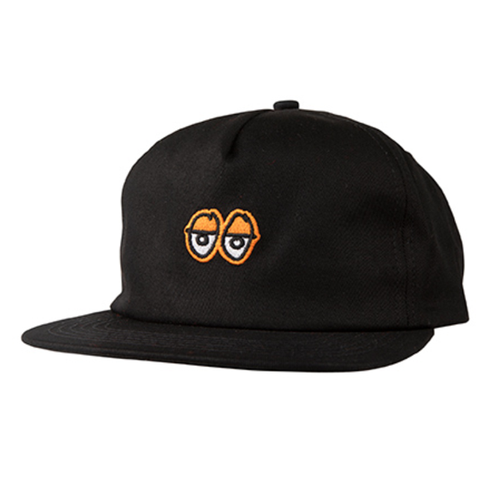 Krooked - Adjustable Eyes Black/Orange Cap