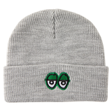 Krooked - Beanie Eyes Embroidered Heather/Green Hat