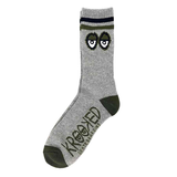 Krooked - Big Eyes Heather Grey/Black/Army Green Socks
