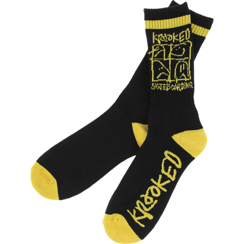 Krooked - Ultra Socks Black/Yellow