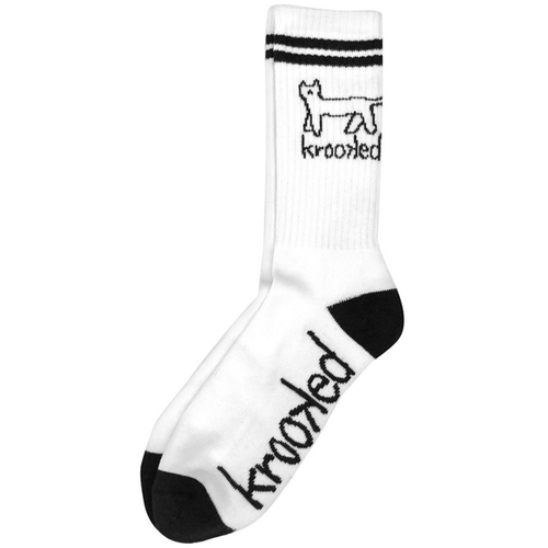 Krooked - Kat White/Black Crew Socks