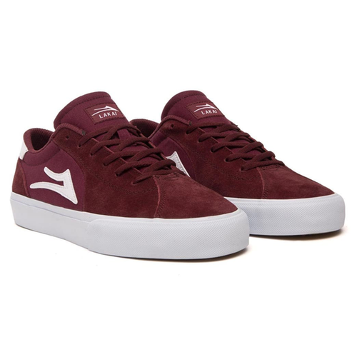 Lakai - Flaco II Burgundy Suede Shoes
