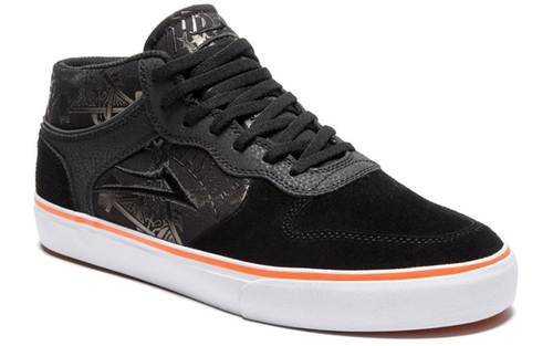 Lakai - Caroll Mid Thrasher 10 Year Anniversary Black/Orange Shoes