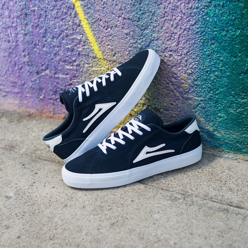 Lakai - Flaco II Navy Suede Shoes