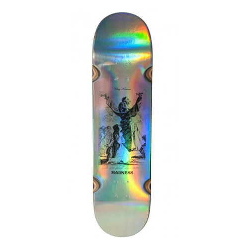 "Madness Skateboards - Kreiner Hail Impact Light 8.25"" Holographic Silver Deck"