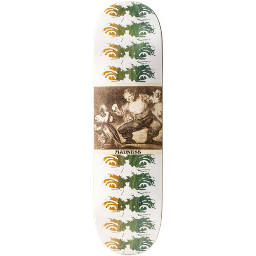 "Madness Skateboards - Los Disparates Impact Light 8.75"" Deck White"
