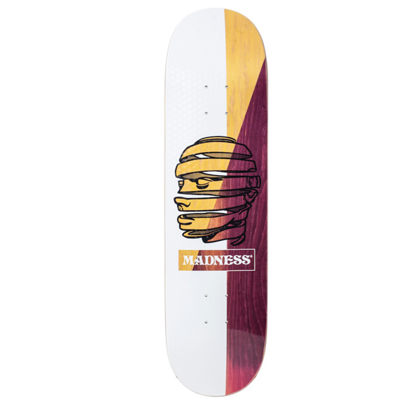 "Madness Skateboards - Pilot R7 8.25"" White Deck"