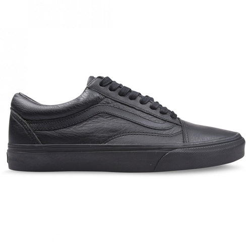 Vans - Old Skool Leather Black/Black Shoes