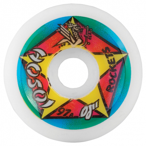 OJ's Wheels - Hosoi Rocket Re-Issue White 97A 61mm
