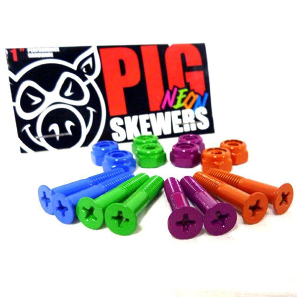 Pig Wheels - Neon Bolts Philips Hardware