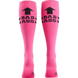 Sock It To Me - Bad Ass Knee High Socks Pink