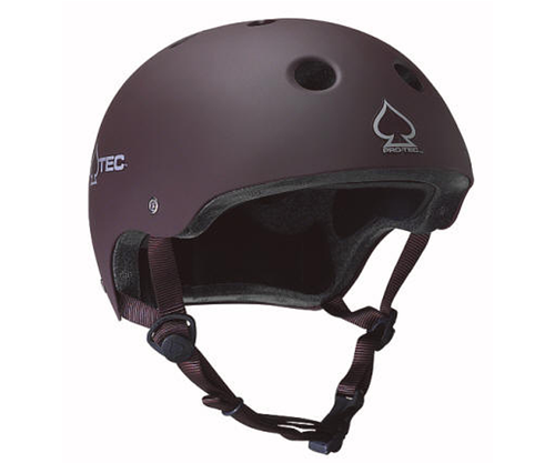 Protec - The Classic Skate Brown helmet