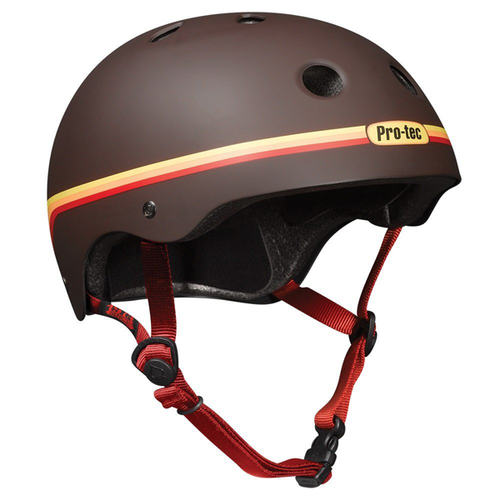 Protec - Classic Bike / Skate Helmet Retro Brown L