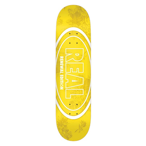 Real Skateboards - Floral Oval Renewal Deck 7.75""