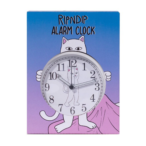 RIPNDIP - Fucking Late Custom Alarm Clock White