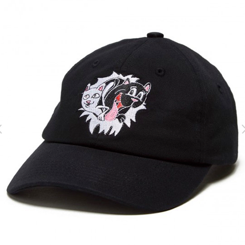 RIPNDIP - Nerm & Jerm Show Dad Hat (6 Panels) Black