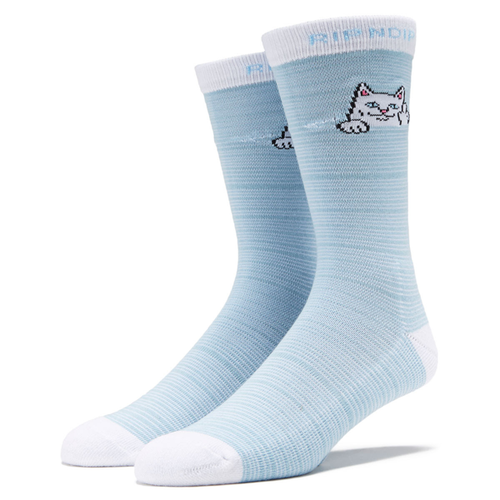 RIPNDIP - Peeking Nermal Socks Baby Blue/White