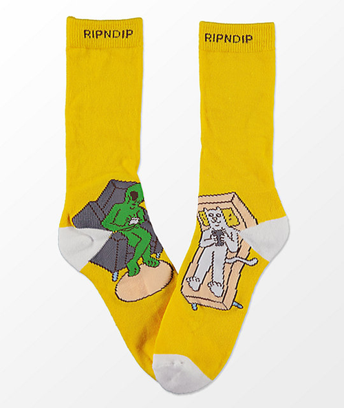 RIPNDIP - Therapy Pastel Yellow Sock