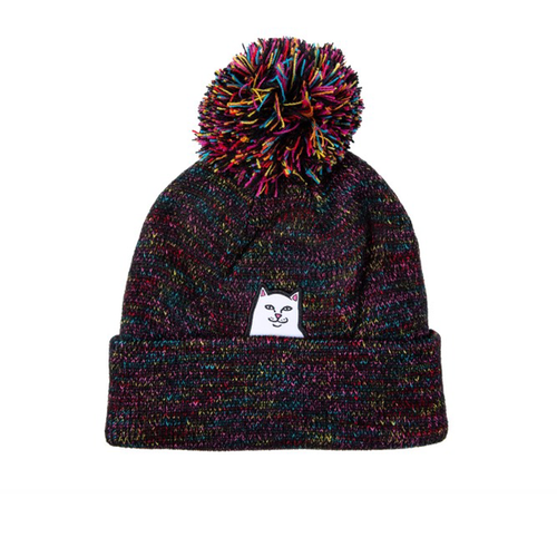 RIPNDIP - Lord Nermal Pom Beanie Black Multi