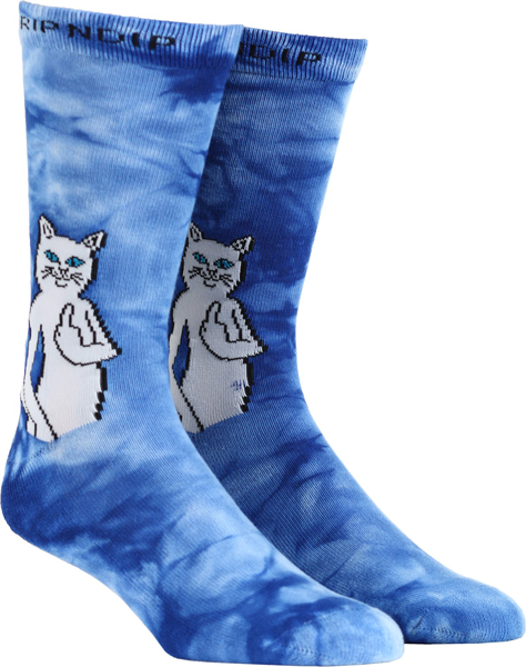 RIPNDIP - Catfish Socks Blue Tie Dye