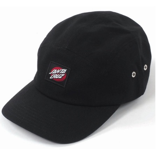 Santa Cruz - Oval Dot Five Panel Hat Black