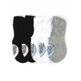 Santa Cruz - Pop Dot No Show Socks 4 Pack