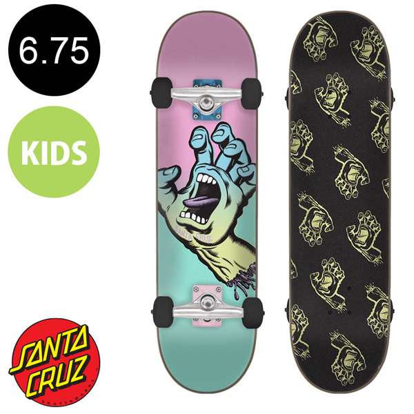 Santa Cruz - Pastel Screaming Hand Sk8 Complete Skateboard 6.75""
