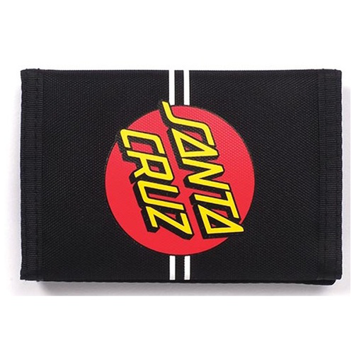 Santa Cruz - Classic Red Dot Velcro Wallet Black