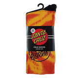 Santa Cruz - Mens Tie Dye Sock Orange/Charcoal