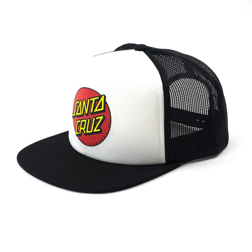 Santa Cruz - Classic Dot Youth Trucker Hat Black/White