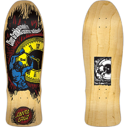 "Santa Cruz - Grabke Hold Back Time Natural 10.0"" Deck"