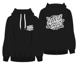 Santa Cruz - Mono Rose Embroid Pop Up Hoodie White