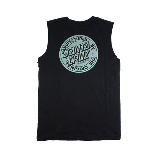Santa Cruz - Original Dot Fill Muscle Top Black