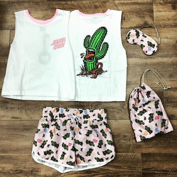 Santa Cruz - Screaming Cactus PJ Set Sherbet