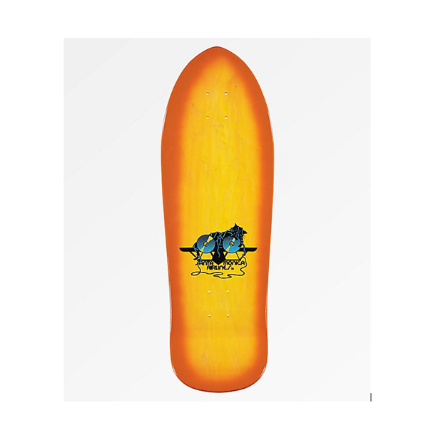 "Santa Cruz - Natas Kitten Yellow Stain 9.89"" x 29.8  Reissue Deck"