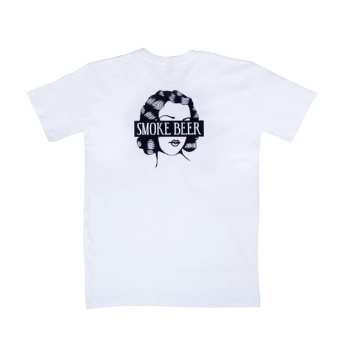 Smoke Beer - Spike Lady T-Shirt White