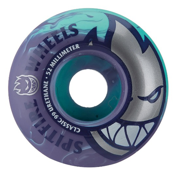 Spitfire - Bighead Edition Live To Burn Swirl Teal/Purple Wheels 54mm