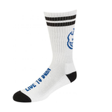 Spitfire -  Heads Up Calf Socks White/Black/Blue