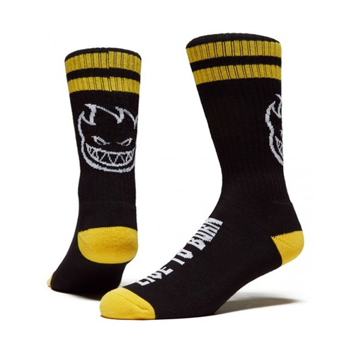 Spitfire -  Heads Up Socks Black/Yellow/White