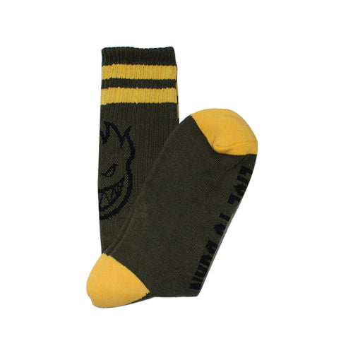 Spitfire -  Heads Up Socks Olive/Yellow/Black
