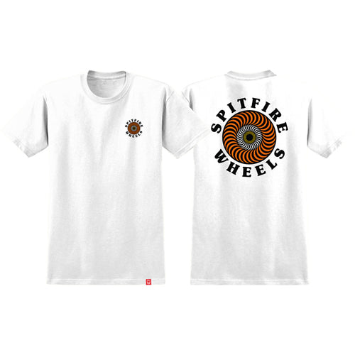 Spitfire - Classic Fill White/Orange Youth T-Shirt